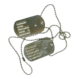photo of military dogtags