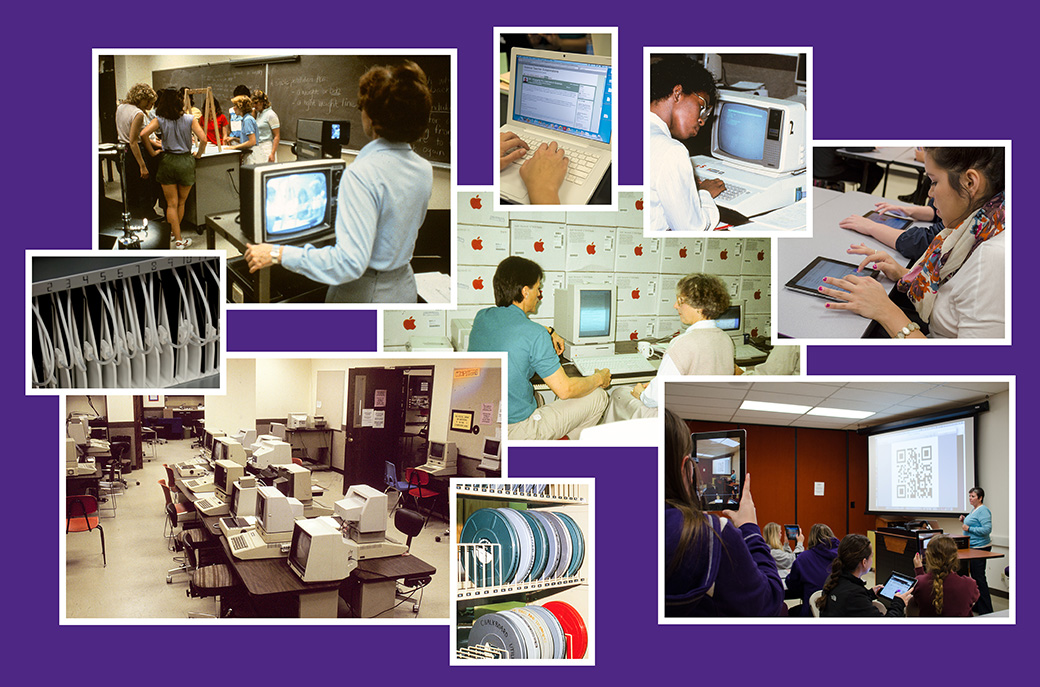 Photo of technology in the college through the years