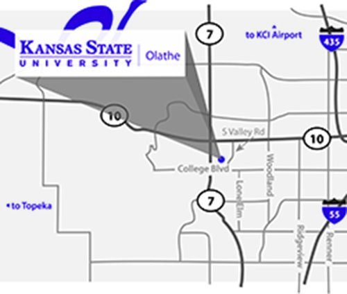 K-State Olathe Map
