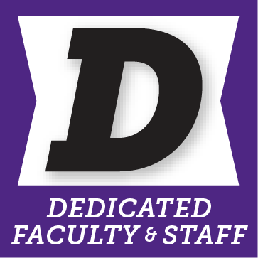 D for dedicated faculty and staff button