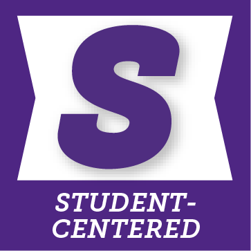 S for student-centered button