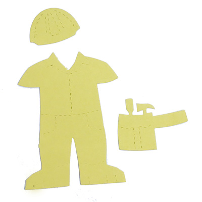 Community helper clothes- construction worker